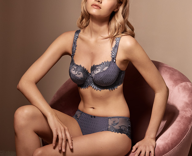 Summer 21 - Empreinte's iconic Thalia range now includes a microfibre jacquard fabric version featured on Lingerie Briefs