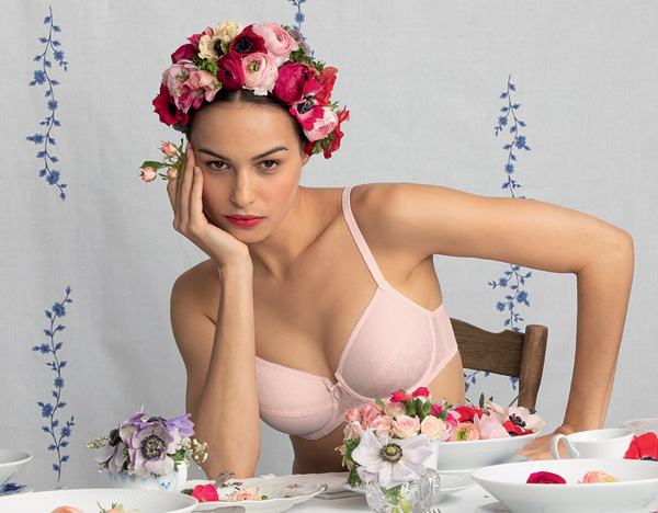 Rosa Faia's SS21 Fleur wireless seamless padded bra in blush pink - featured on Lingerie Briefs