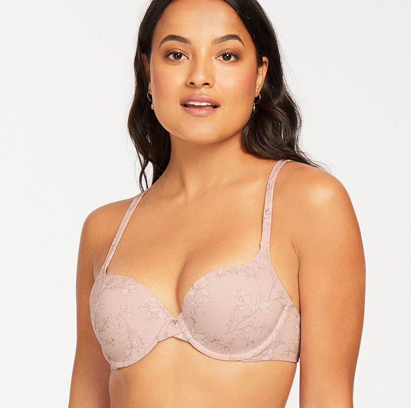 Montelle Intimates previews Gardenia print on Pure Demi Bra - featured on Lingerie Briefs