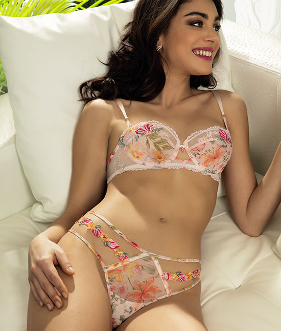 Lise Charmel Spring 21 Desir en Fleurs & Folies de Fleurs as featured on Lingerie Briefs