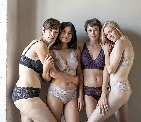 Everviolet post mastectomy bras & panties for breast cancer patients as featured on Lingerie Briefs