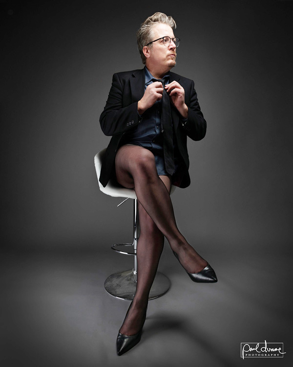 Man in Lechery pantyhose Paul Duane @SoulAnarchist featured on Lingerie Briefs