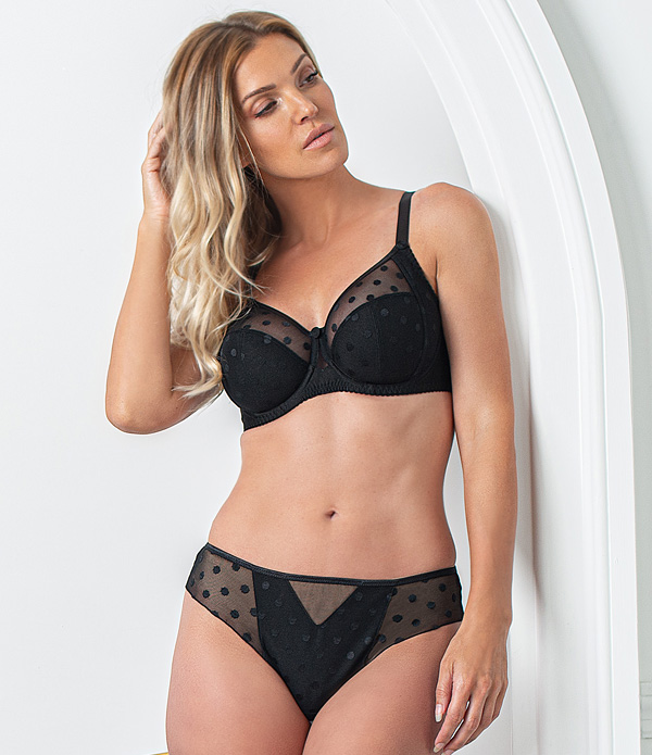 Fit Fully Yours Stunning CARMEN Collection in black featured on Lingerie Briefs