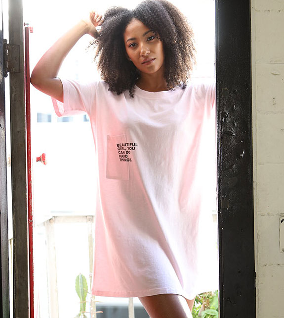 Poetically Correct Cotton knit T-Lounge shirts as featured on Lingerie Briefs