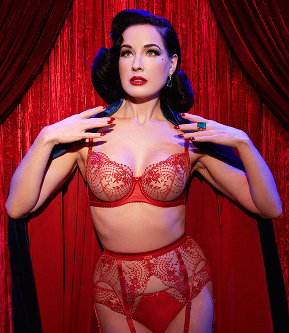 Dita Von Teese Julia's Rose collection as featured on Lingerie Briefs