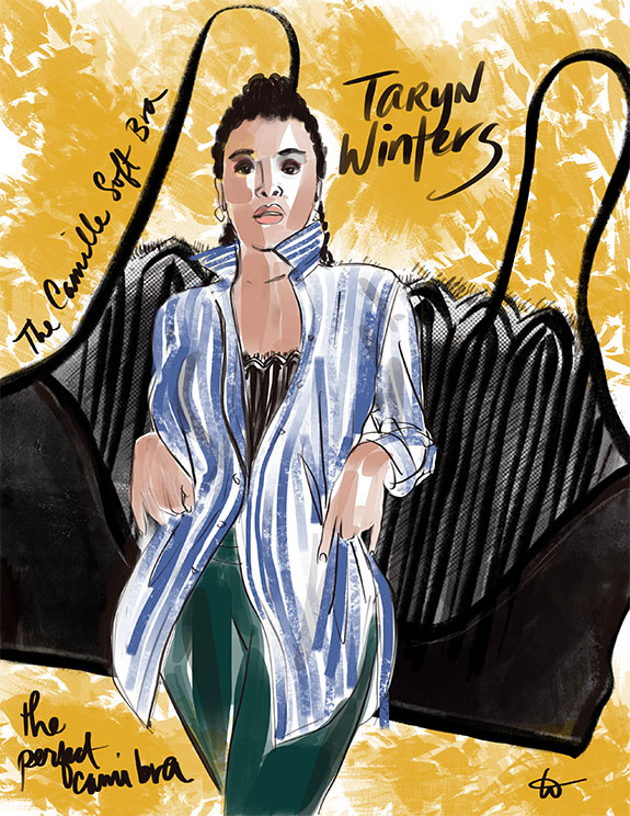 Fashion Illustrations by Tina Wilson as featured on Lingerie Briefs