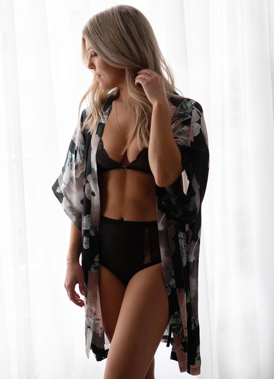Birds of Paradise silk robes as featured on Lingerie Briefs