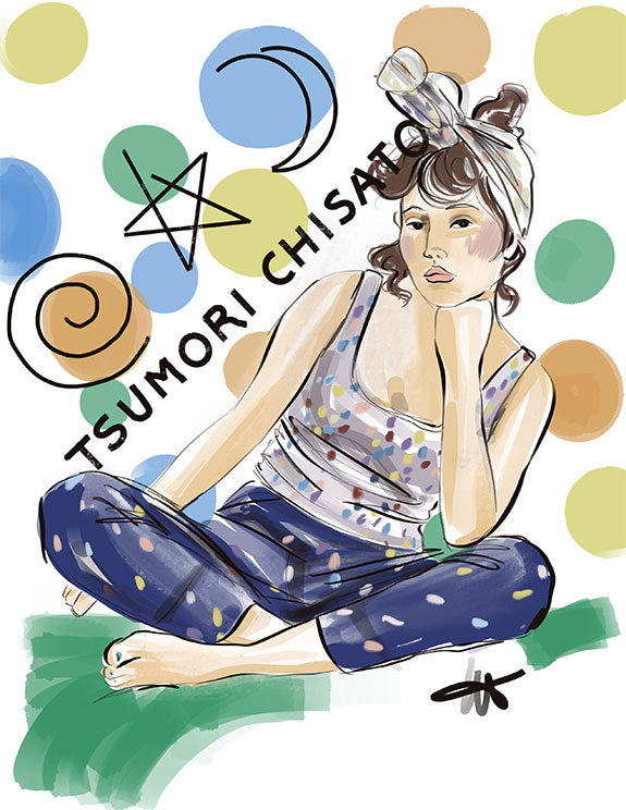 Fashion Illustration of Tsumori Chisato as featured on Lingerie Briefs