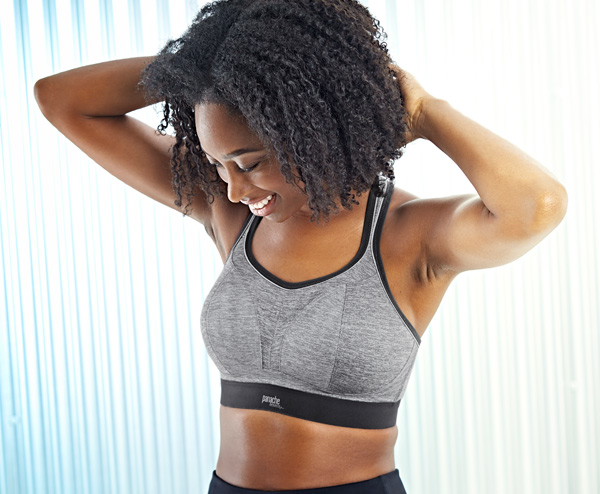 New Core Color Charcoal Marl added to Panache Sport bra - featured on Lingerie Briefs