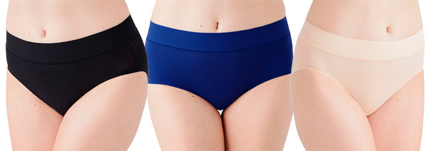 At Ease panties—hipster, brief, and hi-cut featured on Lingerie Briefs