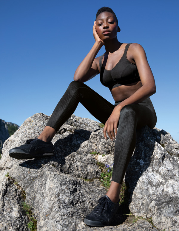 Anita Active bestselling Extreme Control Sports Bra now in black/gold - featured on Lingerie Briefs