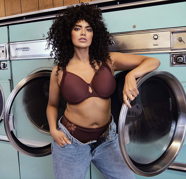 Elomi Lingerie Charley underwire moulded contour tshirt bra in aubergine as featured on Lingerie Briefs