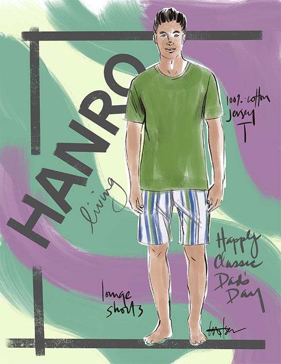 Hanro men's boxer shorts and t shirt as featured for Father's Day on Lingerie Briefs