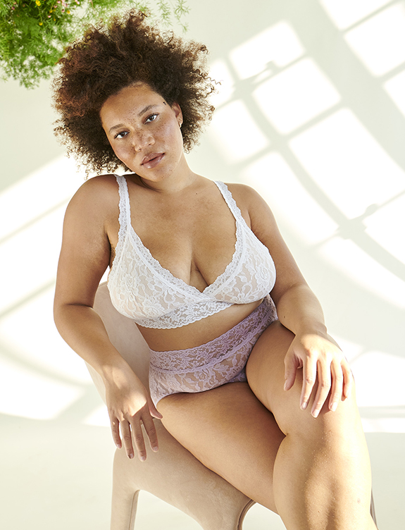 Hanky Panky Triangle Curvy Bra as featured on Lingerie Briefs