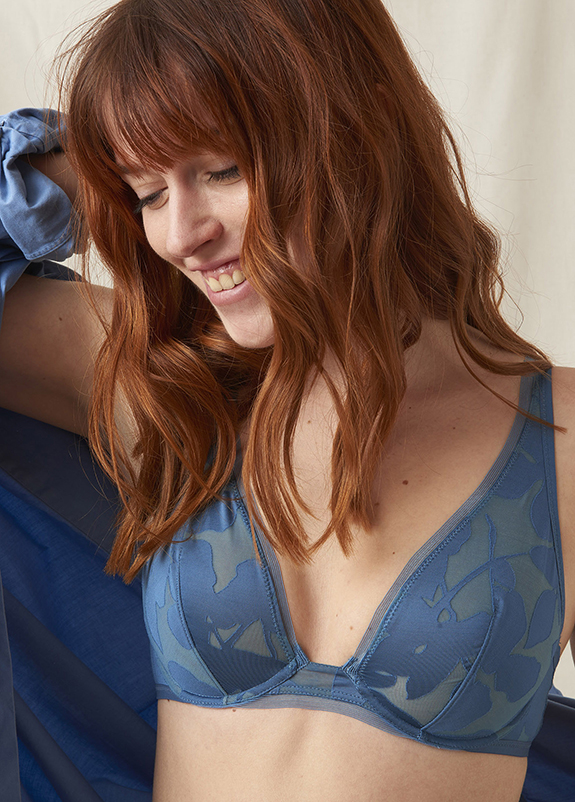 Maison Lejaby Ombrage collection in blue as featured on Lingerie Briefs