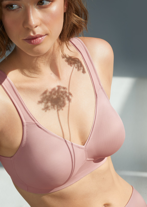 Rosa Faia Twin Wireless Soft Bra in new Rosewood - featured on Lingerie Briefs