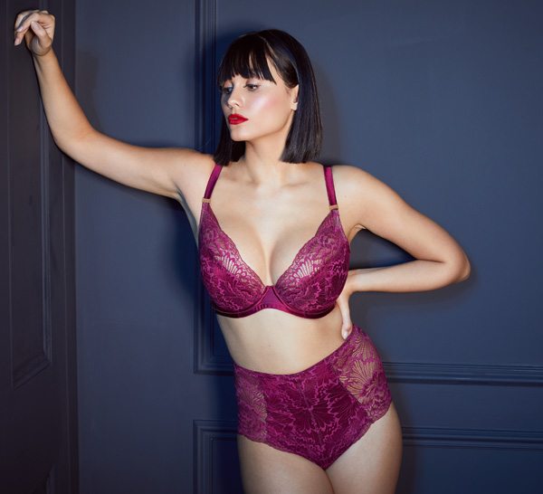 Katherine Hamilton AW21 Angela collection featured on Lingerie Briefs
