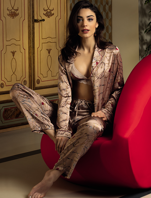 Lise Charmel Seduction Cavaliere Collection pajama as featured on Lingerie Briefs