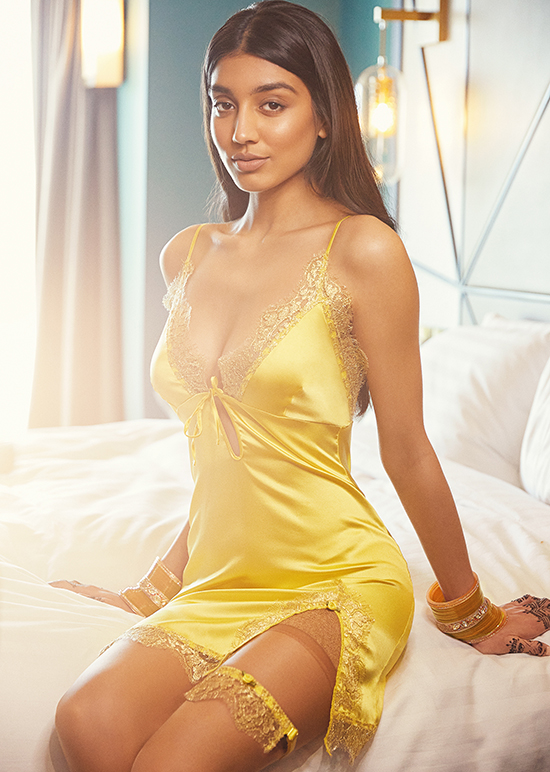 Pure Chemistry Roshni Yellow bridal collection as featured on Lingerie Briefs