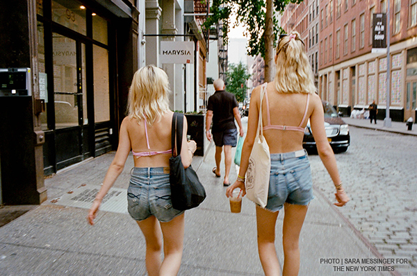 Almost Braless - Linda Dyett, photo - Sara Messinger NYTimes featured on Lingerie Briefs