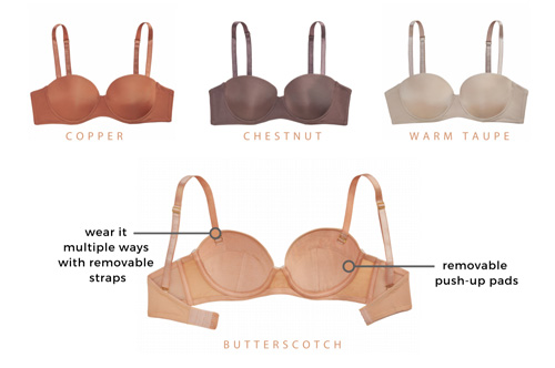 The Little Bra Company Sascha Smooth Strapless Bras for Petites as featured on Lingerie Briefsn