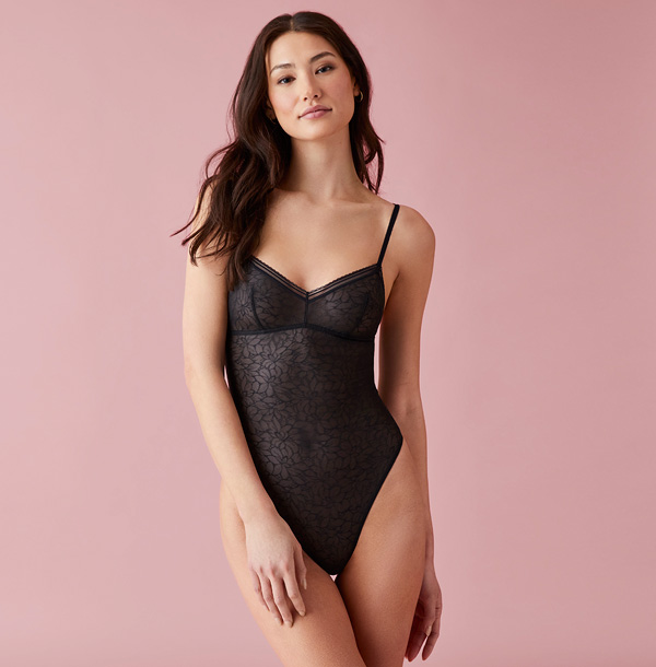 b.tempt'd Etched in Style Bodysuit featured on Lingerie Briefs