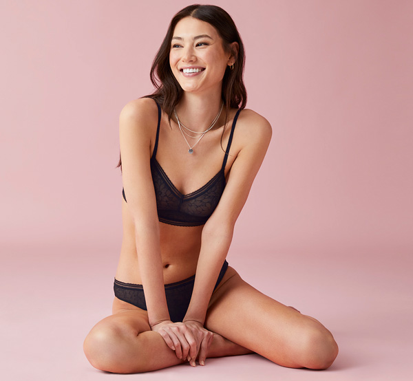 b.tempt'd Etched in Style Bralette & bikini featured on Lingerie Briefs