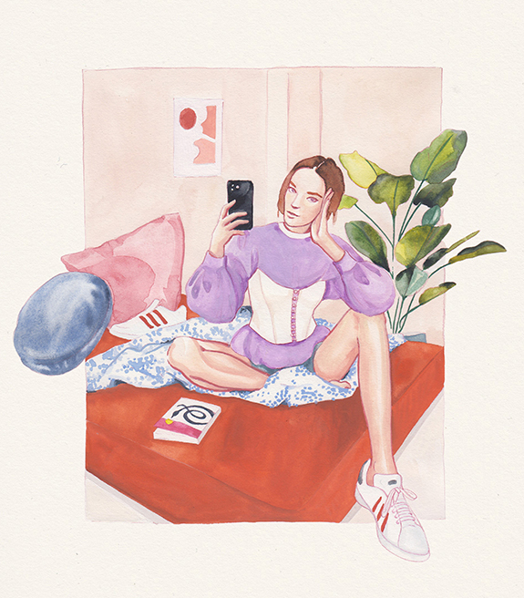 Gabriella Scarafiotti illustrations as featured on Lingerie Briefs