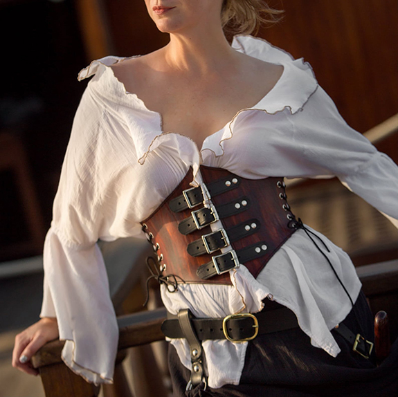 Dredmorsplunder leather corsets as featured on Lingerie Briefs
