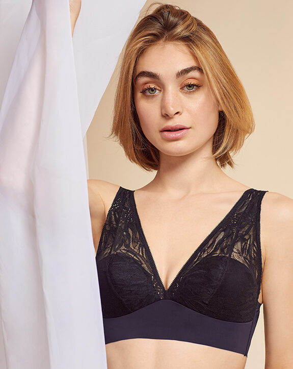 On Gossamer Sleek and Lace Built Up Bralette as featured on Lingerie Briefs