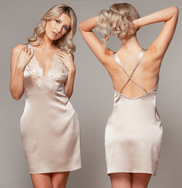 Emma Harris Melody Collection SS22 Slip as featured on Lingerie Briefs