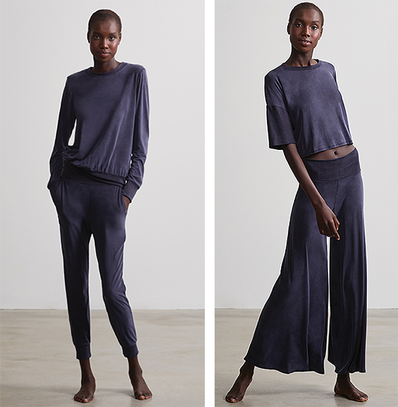 Cupro Vegan Silk Loungewear from Commando as featured on Lingerie Briefs