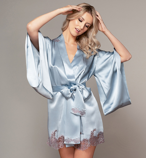 Emma Harris Veronique Collection SS22 Robe as featured on Lingerie Briefs