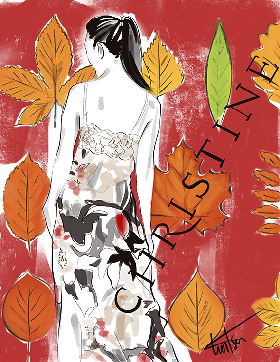 Christine Silk Fall 21 illustrated for Lingerie Briefs