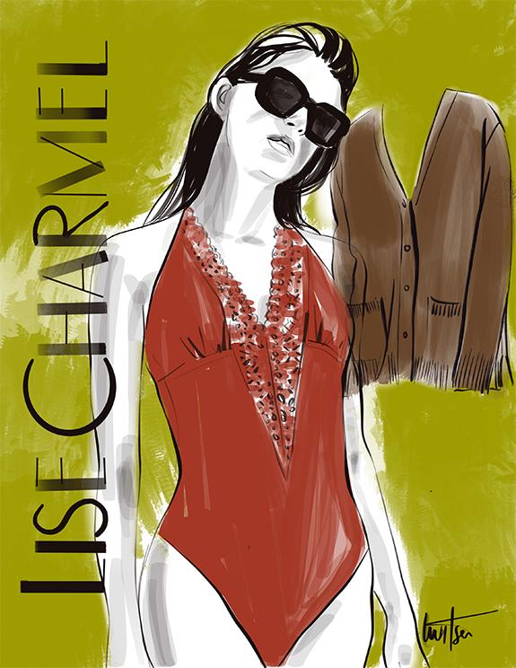Lise Charmel Fall 21 illustrated for Lingerie Briefs